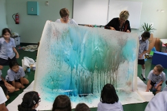 """A student's suggestion led to this! """"Mother nature is crying!"""" --Teagan"""